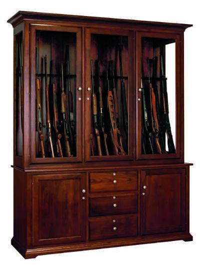 Lancaster Pennsylvania Amish Crafted Hardwood Gun Display