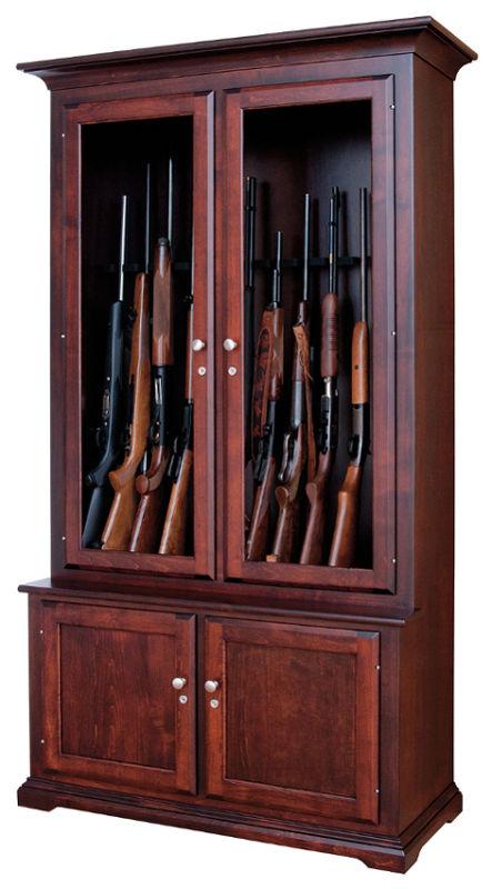 Lancaster Pennsylvania Amish Crafted Hardwood Gun Cabinets