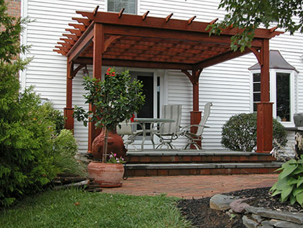 Handcrafted Pergola Made For Both Entertaining and Quiet Reflections - Country Lane Woodworking Pressure Treated Wood Garden Shade Pergola