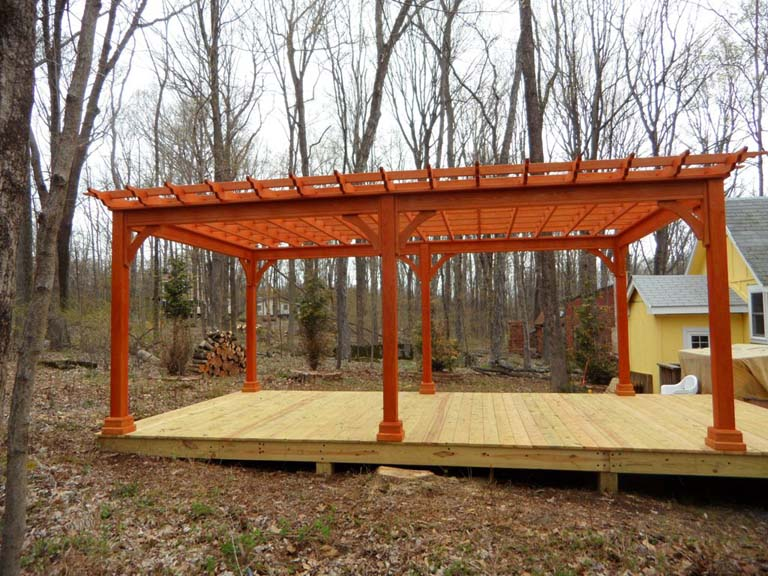 wood shade pergola - Country Lane Woodworking Treated Wood Shade Pergola Quality PA Amish