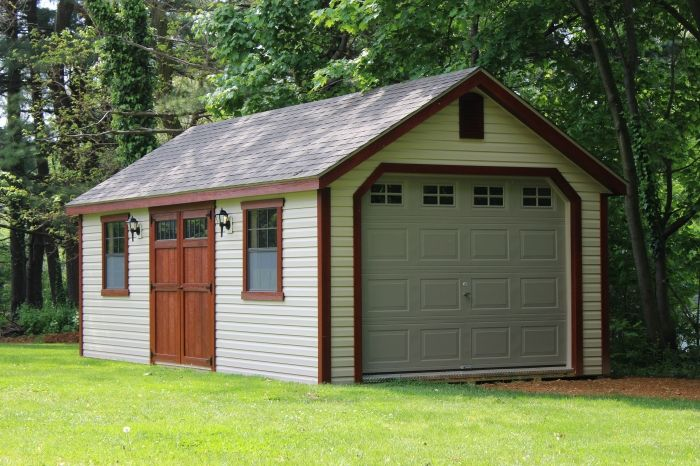Lapp Structures One Story Garage Quality Amish Built Poolhouse