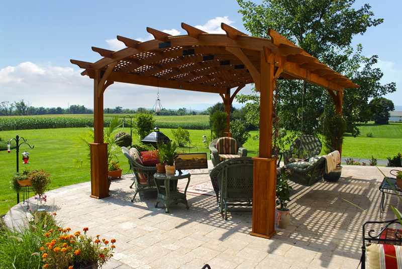 Country Lane Curved Top Heartland Hearthside Arched Shade