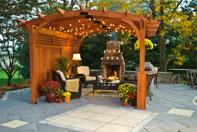 curved top pergola - Country Lane Woodworking Outdoor Patio And Garden Shade Pergola