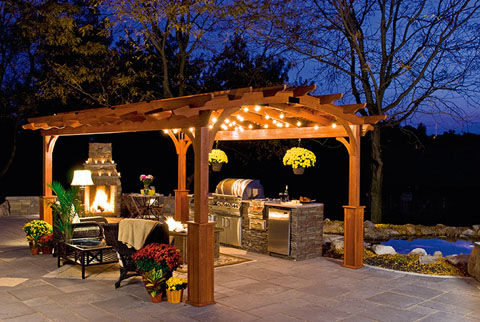 hearthside pergola - Country Lane Woodworking Outdoor Hearthside Patio And Garden Shade