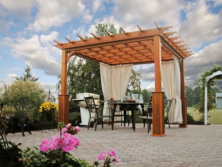 wood pergola - Country Lane Woodworking Treated Wood Shade Pergola Quality PA Amish