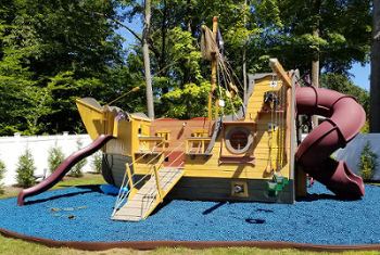 Outdoor Nautical Playground Swing Sets Pirate Ship Boat
