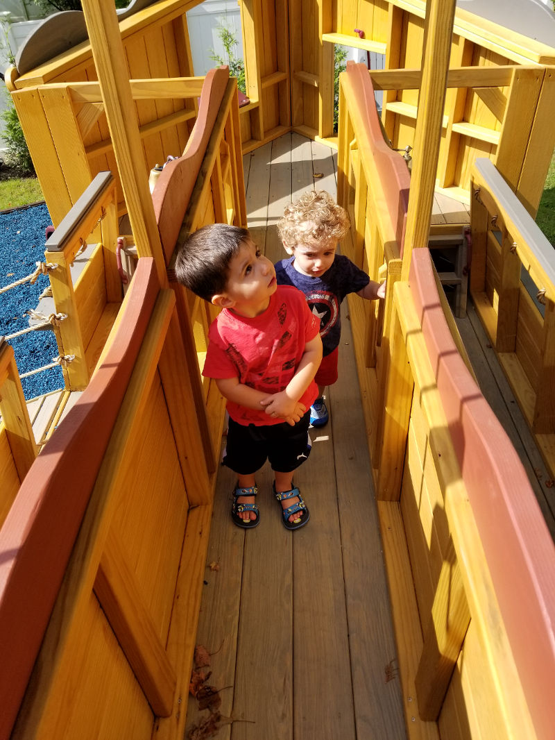 amish creations pirate ship playsets and playgrounds