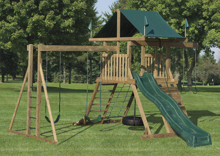 1602 wood swingset