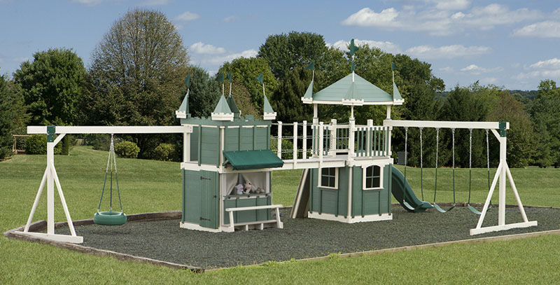 New Amish Built Outdoor Playground Equipment • Swingsets • Playsets QC88