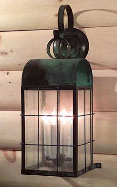 handcrafted copper colonial style outdoor lighting