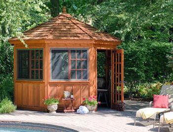 Amish Made Cabana, Poolhouse, Guesthouse, Storage Sheds